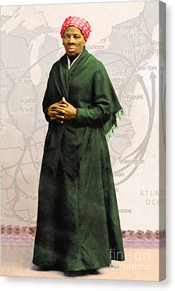 Harriet Tubman The Underground Railroad 20140210v2 Canvas Print by Wingsdomain Art and Photography