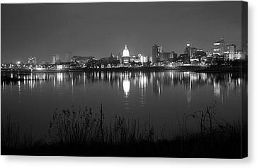 Harrisburg Skyline Canvas Print by Rob Luzier