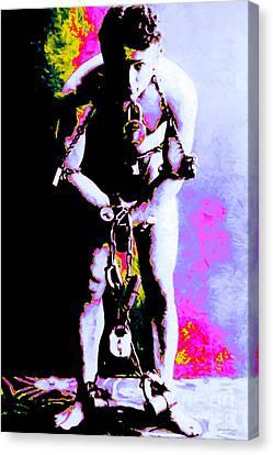 Harry Houdini - 20130208 Canvas Print by Wingsdomain Art and Photography