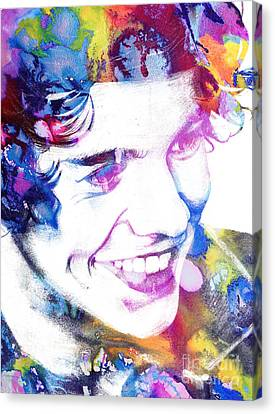 Harry Styles - One Direction Canvas Print by Doc Braham