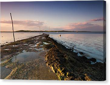 Harty Ferry Canvas Print by Ian Hufton
