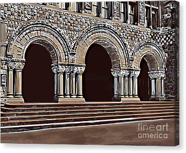 Harvard  Entrance To Law School   C1900 Canvas Print by Andrzej Szczerski