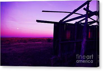 Harvest Moon Harney Homestead Canvas Print by Michele AnneLouise Cohen
