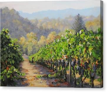 Harvest Morning Canvas Print by Karen Ilari