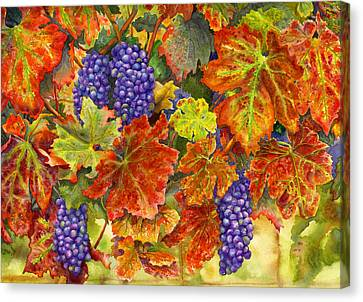 Harvest Time Canvas Print by Karen Wright