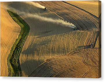 Harvest Time Canvas Print by Latah Trail Foundation