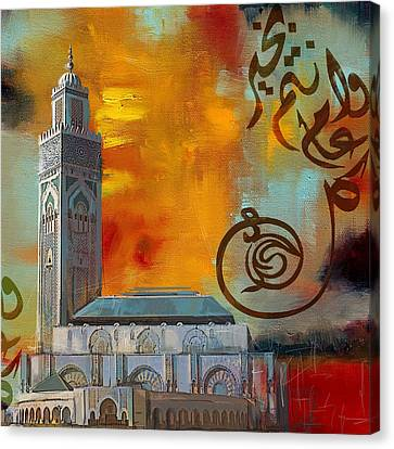 Hassan 2 Mosque Canvas Print by Corporate Art Task Force
