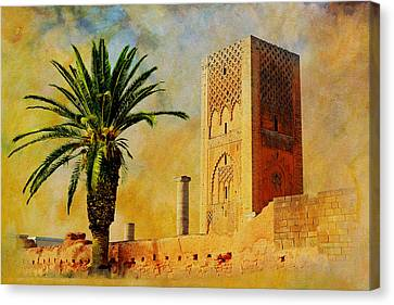 Hassan Tower Canvas Print by Catf