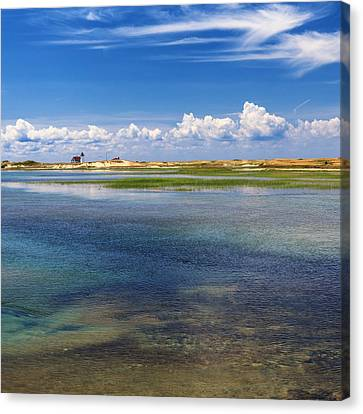 Hatches Harbor Square Canvas Print by Bill Wakeley