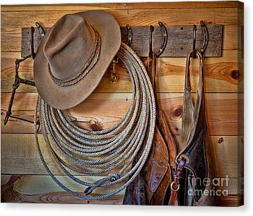 Hats And Chaps Canvas Print by Inge Johnsson