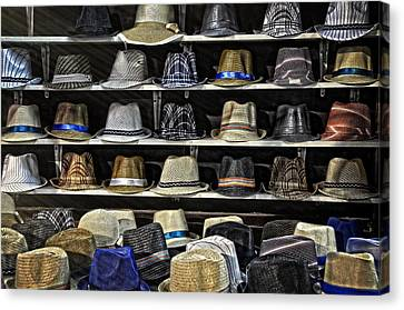 Hats For Sale Canvas Print by Ken Smith