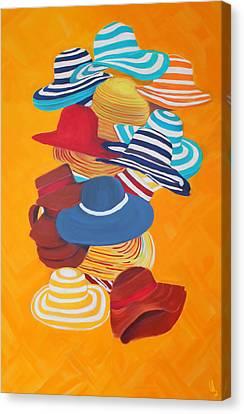 Hats Off Canvas Print by Deborah Boyd