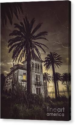 Haunted House Canvas Print by Carlos Caetano