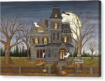 Haunted House Canvas Print by David Carter Brown