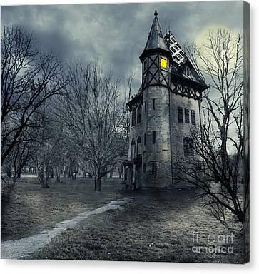 Haunted House Canvas Print by Jelena Jovanovic