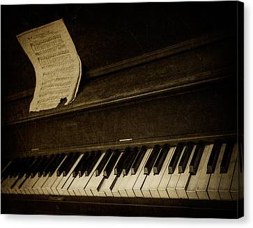 Haunted Melody Canvas Print by Amy Weiss