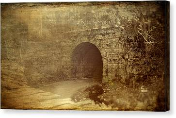 Haunted Tunnel Canvas Print by Kathy Jennings
