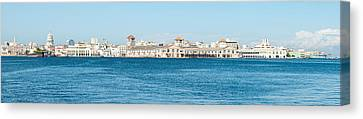 Havana Harbor Seen From East Side Canvas Print by Panoramic Images