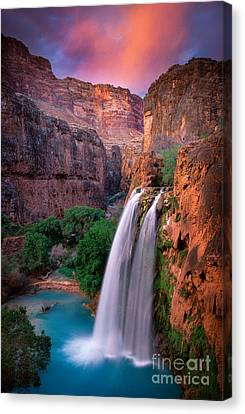 Colorado River Canvas Print featuring the photograph Havasu Falls by Inge Johnsson