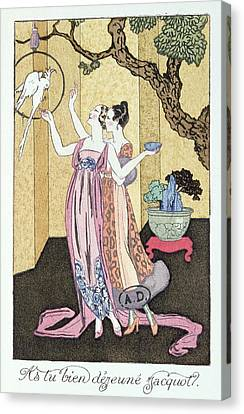 Have You Had A Good Dinner Jacquot? Canvas Print by Georges Barbier