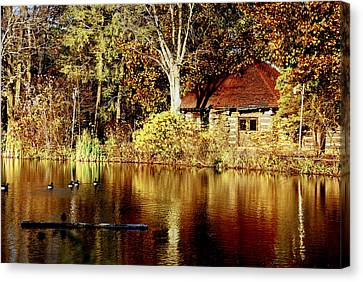 Haverford College Lake Canvas Print by Judy Gallagher
