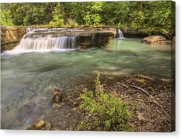 Haw Creek Falls Basin - Ozarks - Arkansas Canvas Print by Jason Politte