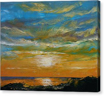 Hawaii Sunset Canvas Print by Michael Creese