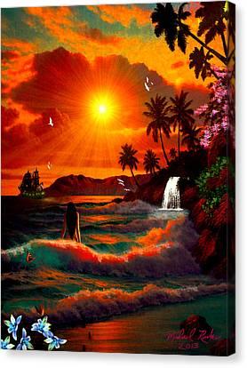 Hawaiian Islands Canvas Print by Michael Rucker