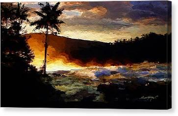 Hawaiian Sunrise Canvas Print by Anthony Fishburne