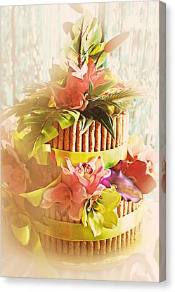 Hawaiian Wedding Cake Canvas Print by Susan Bordelon