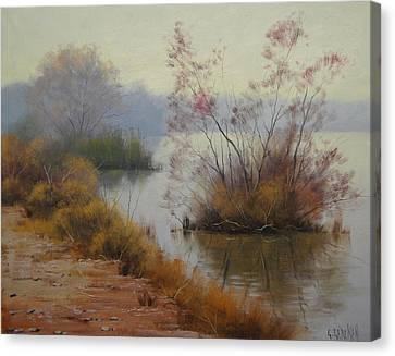 Hawksbury River Painting Canvas Print by Graham Gercken