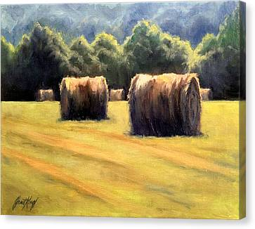 Hay Bales Canvas Print by Janet King