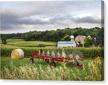 Hay Rake Rests Canvas Print by Barbara Smith