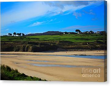 Hayle Estuary Cornwall Canvas Print by Louise Heusinkveld