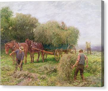 Haymaking Canvas Print by Arthur Hopkins