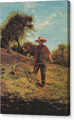 Haymaking Canvas Print by Winslow Homer