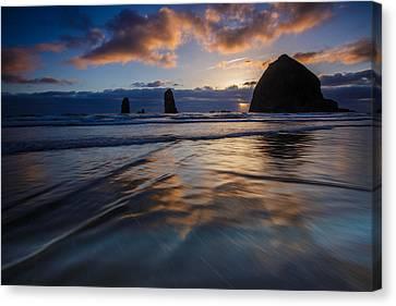 Haystack Rock And The Needles Canvas Print by Rick Berk