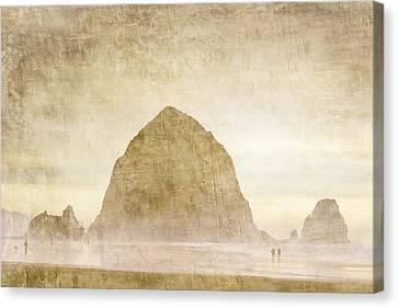 Haystack Rock Canvas Print by Carol Leigh