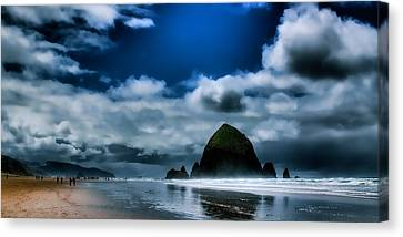 Haystack Rock IIi Canvas Print by David Patterson