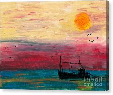 Hazy Late Canvas Print by R Kyllo