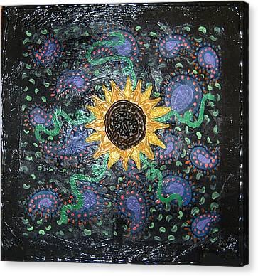 Hazy Paisley  Canvas Print by Yvonne  Kroupa