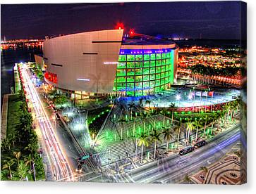 Hdr Of American Airlines Arena Canvas Print by Joe Myeress