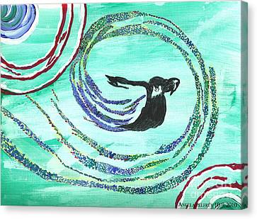 He Comes In The Wind Canvas Print by Angela Pelfrey