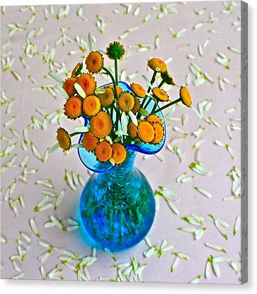 He Loves Me Bouquet Canvas Print by Frozen in Time Fine Art Photography