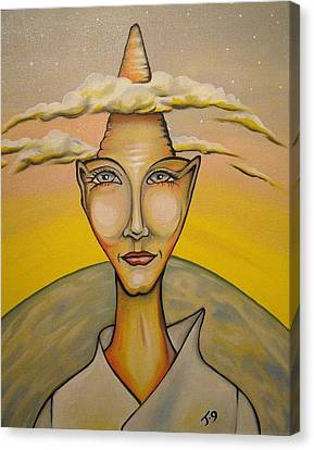 Head In The Clouds Canvas Print by Janine Cooper Ayres