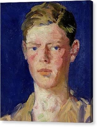 Head Of A Young Man Canvas Print by Francis Campbell Boileau Cadell