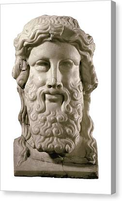 Head Of Hermes. 4th C. Bc. Classical Canvas Print by Everett