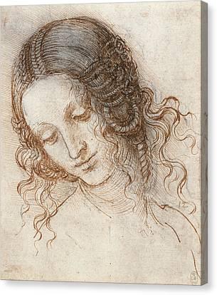 Head Of Leda Canvas Print by Leonardo da Vinci