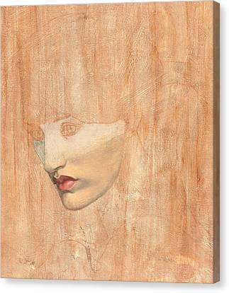 Head Of Proserpine Canvas Print by Dante Gabriel Charles Rossetti