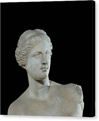 Head Of The Venus De Milo Canvas Print by Greek School